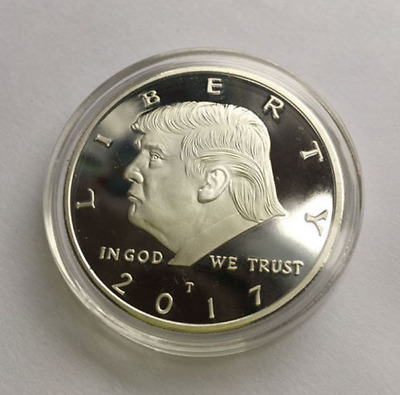 2017 President Donald Trump Inaugural Silver EAGLE Commemorative Novelty Coin GY