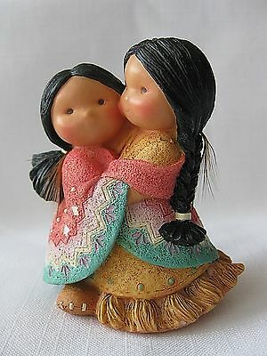 "Enesco FRIENDS OF THE FEATHER figurine girls ""Gotta Have a Hug "" 1994"
