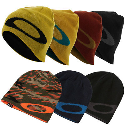 Oakley Sport Mens Mainline Fine-Gauge Knit Reversible Beanie Hat 34% OFF RRP