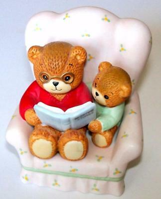 Vintage Enesco Lucy and Me Figurine 1985 BEDTIME STORIES BEAR Lucy Rigg Figurine
