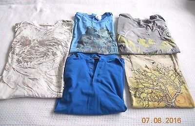 Mens Assorted Graphic S/s Shirt ~ Lot Of 5  ~ Size L/xl~ Express,star Wars Ecko