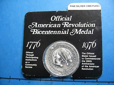 North Carolina American Revolution Bicentennial 999 Silver Coin Very Rare Sealed