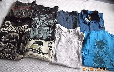 Mens Assorted Graphic S/s Shirt ~ Lot Of 8  ~ Size Xxl~Ecko,helix,hawk++