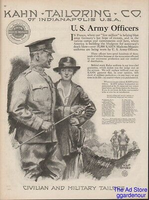 1918 WWI US Army Officer Uniform Camps Kahn Tailoring Co Indianapolis IN Ad