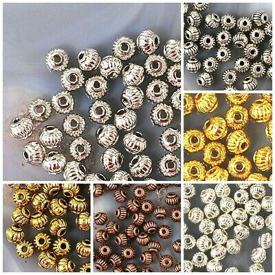 4x3mm Spacer Jewelry DIY Finding Beads 60pcs gold silver antique copper brass