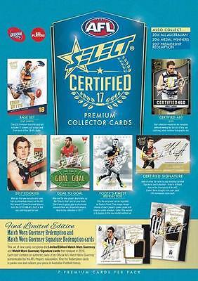 2017 Afl Select Certified Sealed Case Of 12 Boxes Plus Case Card