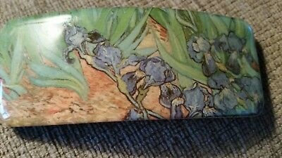 Hair Barrette Featuring Irises by Van Gogh; Made in France