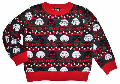 Star Wars Boys Knit Ugly Christmas Sweater Size 6