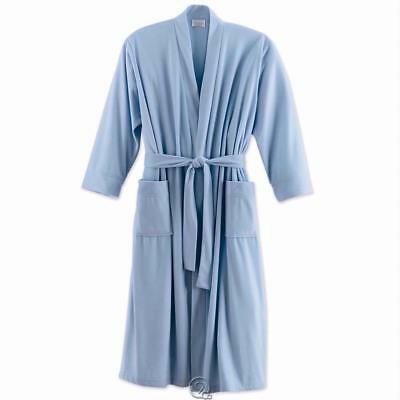 Womens Kay Anna Polyester Travel Bathrobe Sky Blue Size XS Extra Small Robe FP
