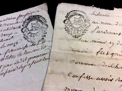 Lot Of Two Manuscripts 1795