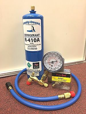 COMPUTER COOLING A/C Recharge Kit, R410A,  28 oz., w/Check & Charge-It Gauge
