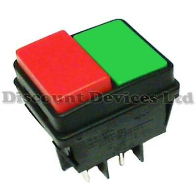 Double/Water Proof Push Button Switch 16A 250V 2 Circ