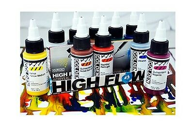 Golden High Flow Acrylic Paint for Brush, Markers, Dip Pen, Airbrush - 30ml Sets