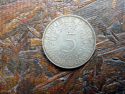 1973-J Germany 5 Mark Silver Coin - Must See