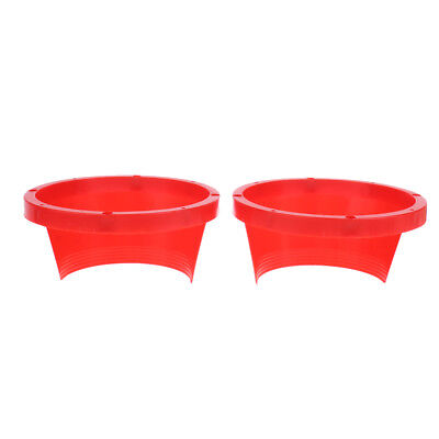 1 Pair Dia 6.5 Inch 17cm Car Boat Speaker Fiber Glass Rings Spacer Red