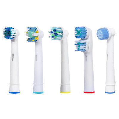 Generic Braun Oral B Toothbrush Heads Sensitive Floss Action 3D White Dual Clean