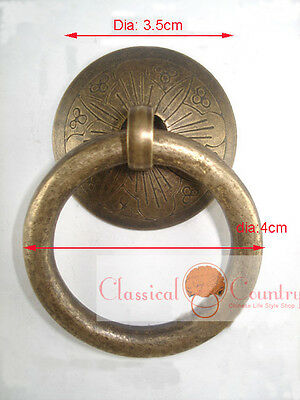 4pcs Chinese Furniture Hardware Brass Drawer Handle Cabinet Pull Knob