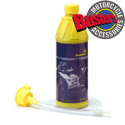 Scottoiler Automatic Motorcycle Chain Oiler System Blue Refill 500ml Scottoil