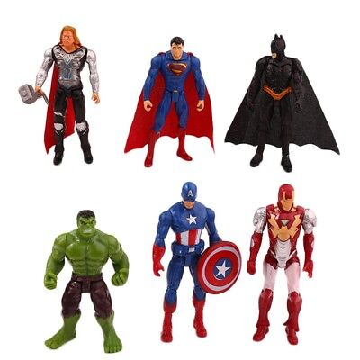 The Avengers Hero League Creative Toys Movable Model Comic Action Figures New