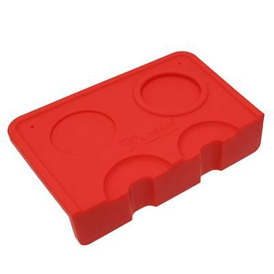 Small Double Groove Pressed Powder Base Seat Holder Coffee Corner Mat Red