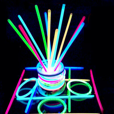 100pcs 5 Colors Premium Glow Sticks Bracelets Neon Party Mixed Stick Color