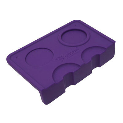 1 PC Coffee Corner Mat Pressed Powder Non-Slippery Base Seat Holder Purple