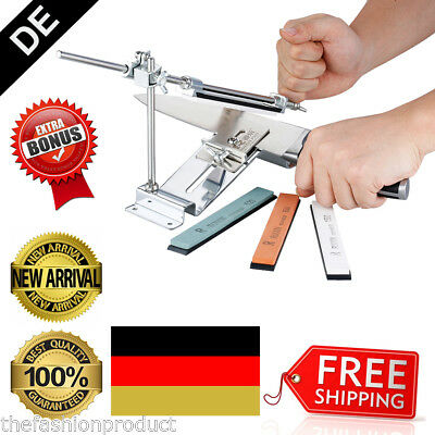 Profi Messerschleifer Fixed Winkel Sharpener Messerschärfer Set + 4 Schleifstein