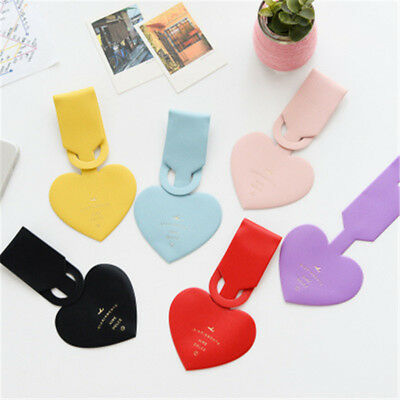Durable Heart Suitcase Luggage Tags Name ID Address Holder Identifier Label
