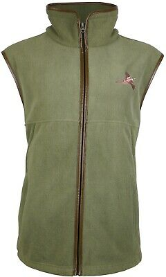 Kids Fleece Shooting Gilet Jumper Hunting Fishing Walking with Pheasant Logo