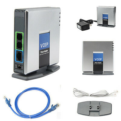 Unlocked PAP2T-NA SIP VOIP Phone Adapter 2 Voice Port Internet Phone US Adapter