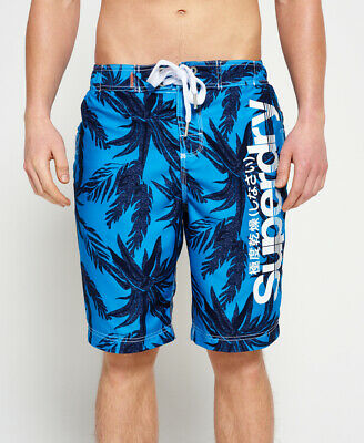 New Mens Superdry Superdry Boardshorts Banana Leaf Aop