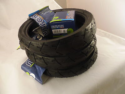 Set of 3 Jane Pram Tyres & Tubes 270 x 47-203 Slick Smooth Tread