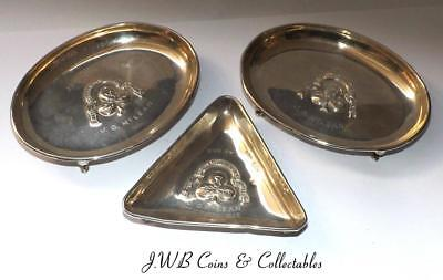 Small Lot Of 3 Silver Ash Tray/ Pin Dish The Scottish Western Motor Club 1924/25