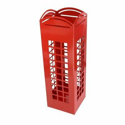RED London Phone Box Umbrella Holder English Phonebox Floor Rack Free Standing