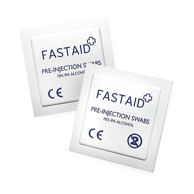 50 x FastAid Pre-Injection Swabs 70% IPA Alcohol Wipes NHS Steriods Tattoo Nails