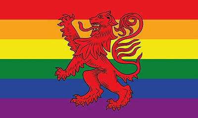 RAINBOW SCOTLAND LION RAMPANT FLAG 5' x 3' Scottish Gay Pride LGBT Festival