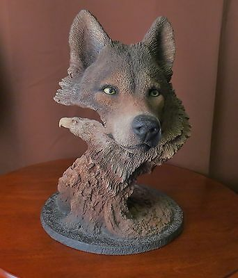 """""""WOLF WIND"""" Fine Arts Wolf Sculpture Signed by Rick Cain  L/E 70 of 1500"""