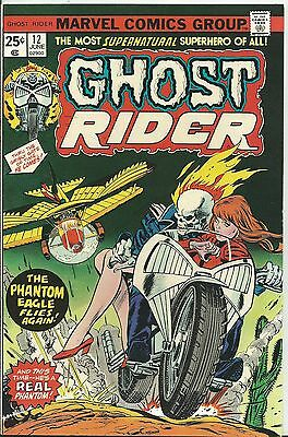 Ghost Rider #12 (1St Series)  (Marvel)  1975 (Vf/- 7.5/8.0)