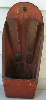 Sensational Antique Wooden Wall Mount Double Knife Scrub Board Box Square Nails