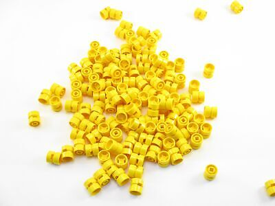 x20 Lego yellow wheel 11mm D.x12mm hole notched for wheels holder pin 6014b