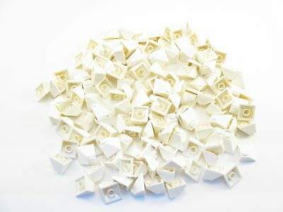 LEGO White Slope 45 2x2 Double Convex Lot of 50 Parts Pieces 3045
