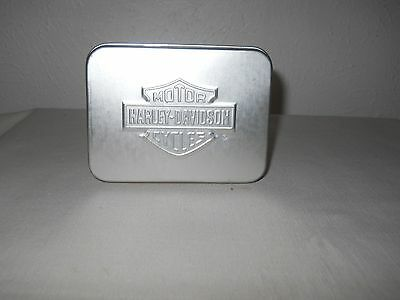 Harley Davidson Motor Cycle Playing Cards In Metal Tin