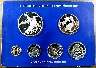 1977 British Virgin Islands Proof Set w/ Silver Dollar