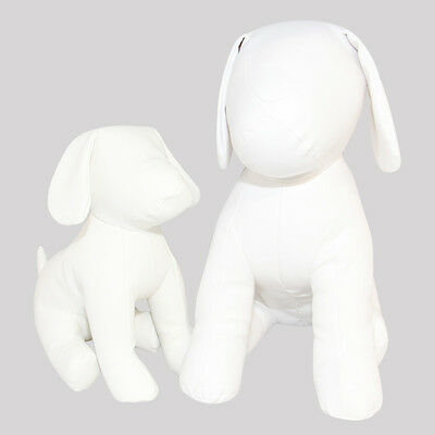 New LARGE white leather dog mannequins for school graduation / wedding autograph