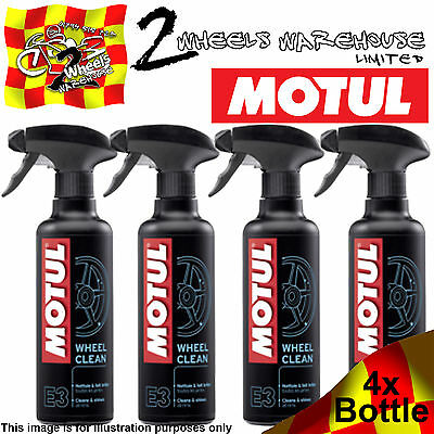 1x 2x 3x 4x MOTUL E3 WHEEL CLEAN ALL RIMS ALLOYS PAINTED OR CHROME CLEANER WASH