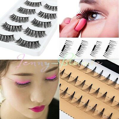 LED / 3D Magnet / Mink Light Up Faux cils Eyelid Fake Eye Lashes & Tweezer Kit