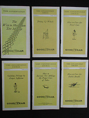 Vintage Antique 1919 Goodyear Tires Conservation Course 6 Booklets