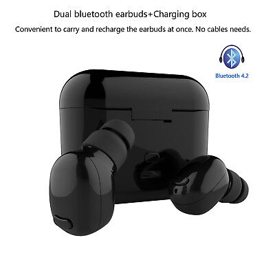 2Pcs Mini True Wireless Earbuds Bluetooth Headphones with Mic for Sport Business