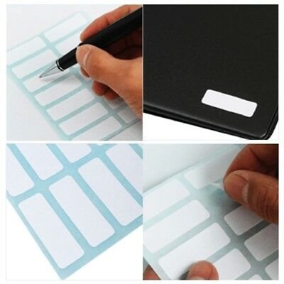 12 Sheet Self Adhesive Sticky White Label Blank  Stickers Note Tags Craft