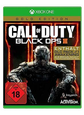 Xbox One Spiel Call of Duty: Black Ops 3 III Gold Edition inkl. DLC Pack NEUWARE